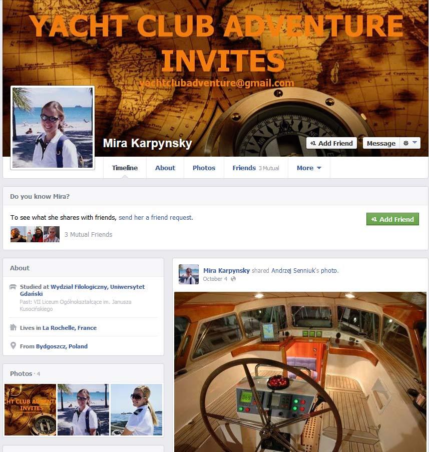 Myra Karpynsky YACHT CLUB ADVENTURE YACHT CLUB ADVENTURE – mały przekręt czy wielka firma? YACHT CLUB ADVENTURE – mały przekręt czy wielka firma? Myra karpynsky