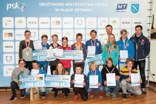 ykp gdynia drużynowym mistrzem polski klasy optimist YKP Gdynia drużynowym Mistrzem Polski klasy Optimist DMP PSKO 1 631x420