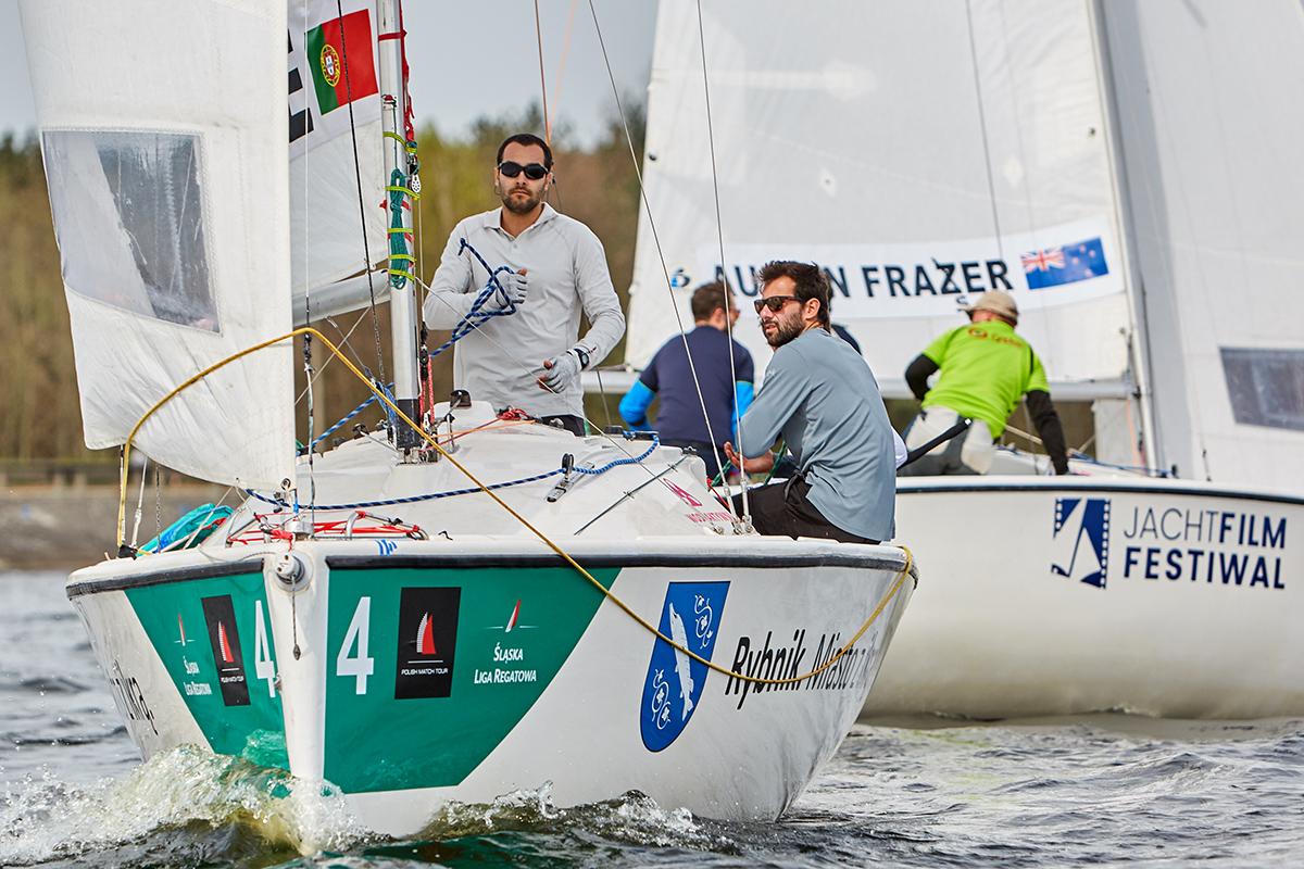 polacy match racingowcy zwyciężyli w rybniku Polacy match racingowcy zwyciężyli w Rybniku Polish Match Tour Sailing World Cup rybnik kwiecien 9E0A7823