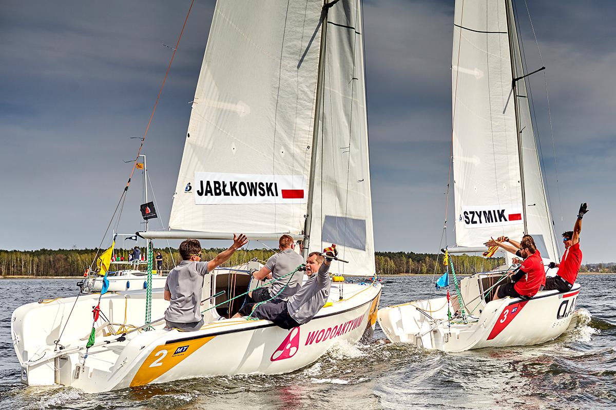 polacy match racingowcy zwyciężyli w rybniku Polacy match racingowcy zwyciężyli w Rybniku Polish Match Tour Sailing World Cup rybnik kwiecien IMG 9665