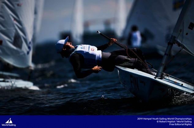 młodzieżowe mistrzostwa Świata Młodzieżowe Mistrzostwa Świata – Tytus Butowski liderem w klasie Laser Radial, udany początek deskarzy 190714 YSWC Gdynia RH 168 634x420