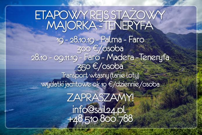 Rejs Majorka Teneryfa