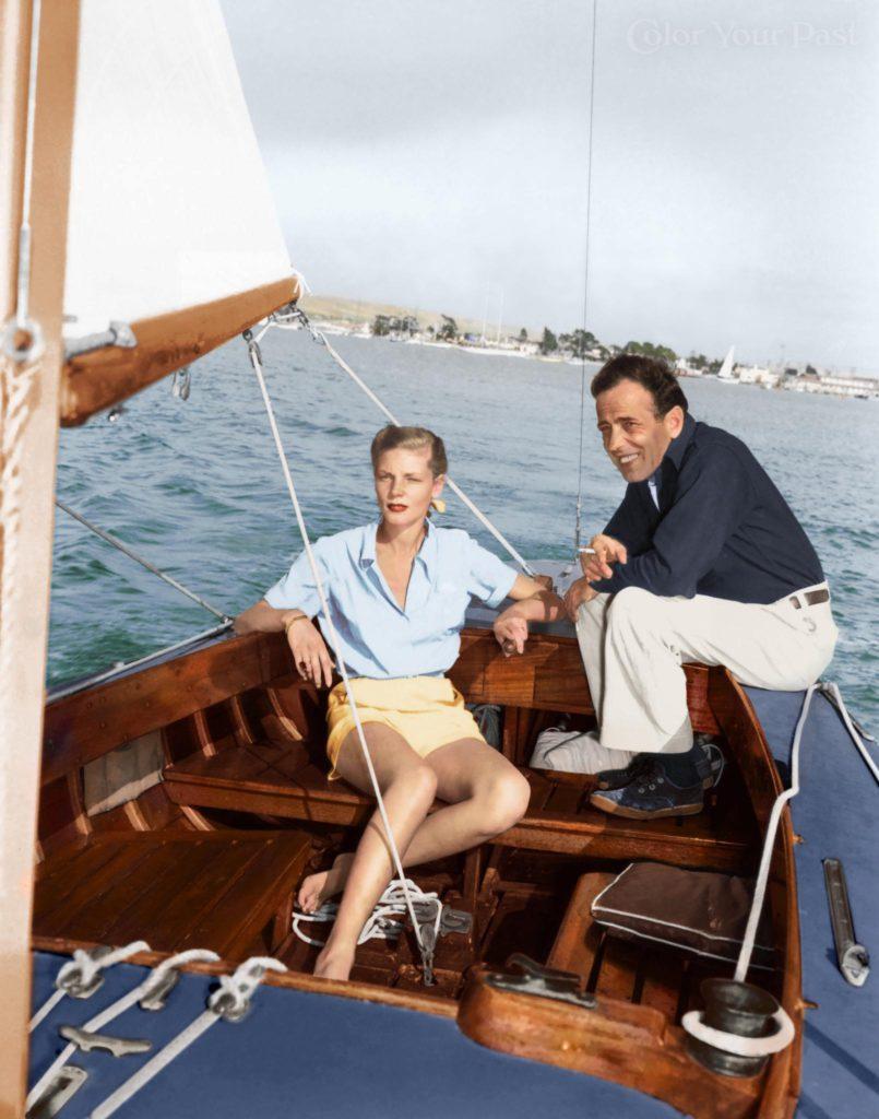 Humprey Bogart, Lauren Bacall żeglarstwo